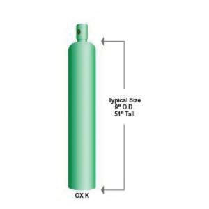 Compressed Oxygen, K Size 249 SCF Cylinder - NORCO