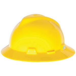 MSA 454730 V-Gard® Slotted Hard Hat  Full Brim Style 4eafc6035